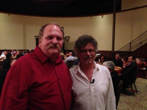 Steven Raichlen and I at the Showcase Dinner.