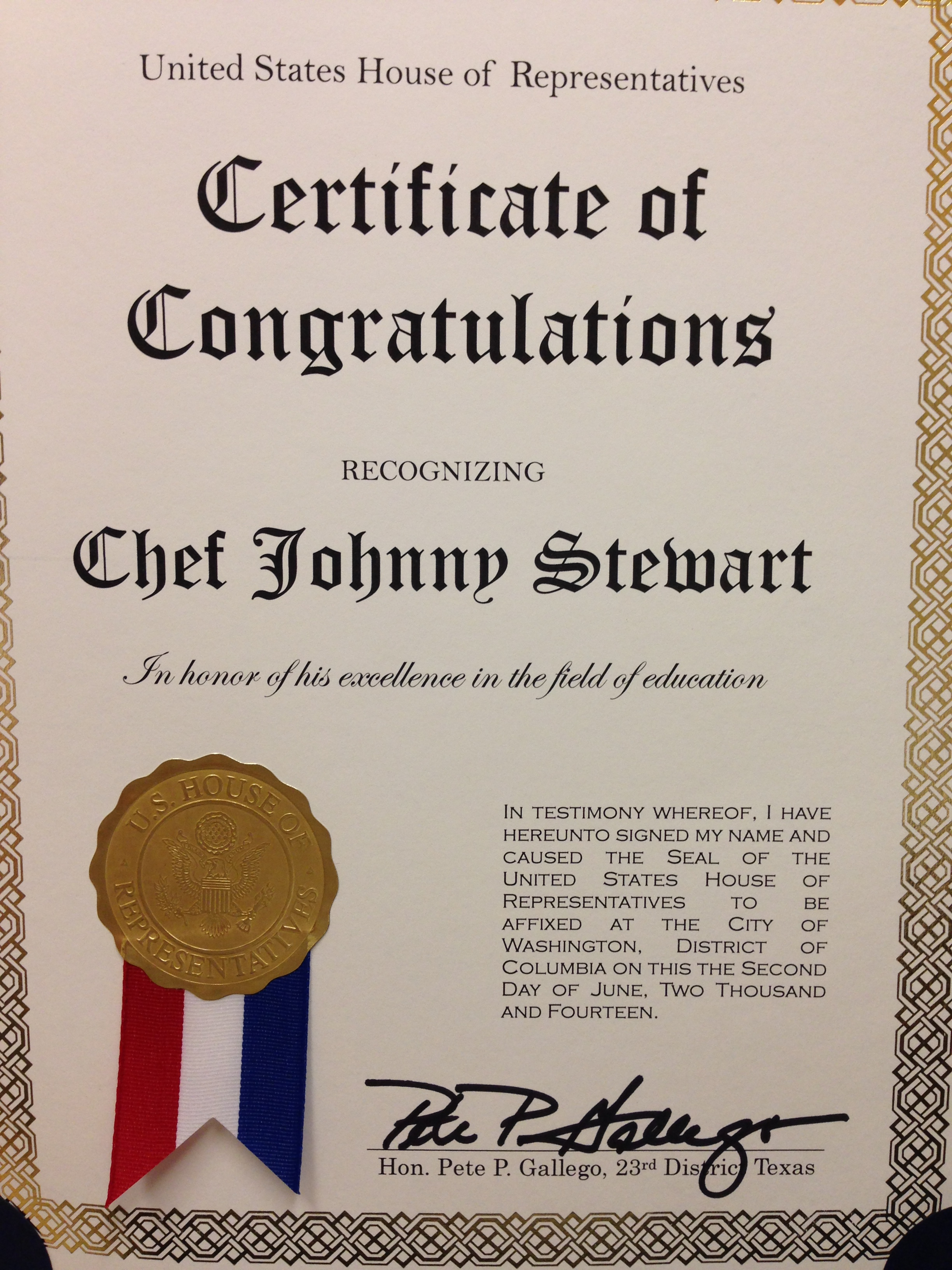 Congressional recogniton texas style cuisine congressional recogniton 1betcityfo Images