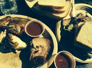 Out plates at Micklethwait Craft Meats